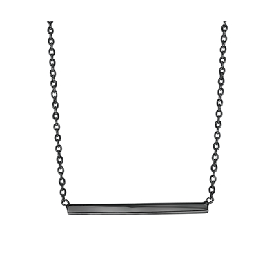Zilveren ketting bar blackplated (1041606)