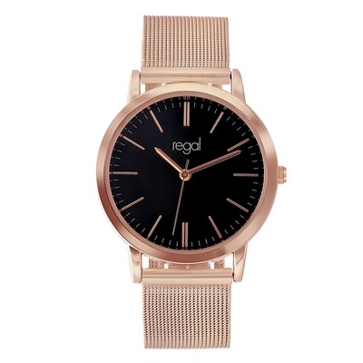 Regal mesh horloge rose band (1041252)