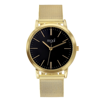 Regal mesh horloge goudkleurige band (1041253)