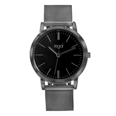 Regal mesh horloge zwarte band (1041254)